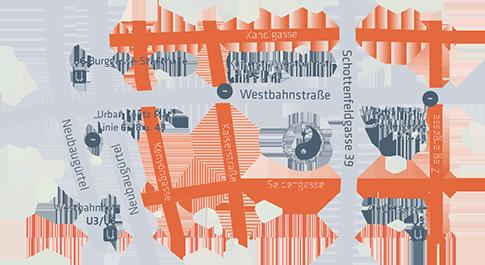Lageplan Tai Chi Vienna im 7. Bezirk